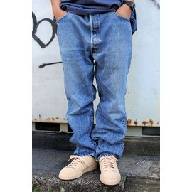 "USED!!! LEVI'S / ""501"" DENIM PANTS (90'S) / hard stonewash indigo"