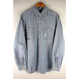 USED!!! POLO JEANS / VINTAGE CHAMBRAY SHIRTS (00'S) / light indigo
