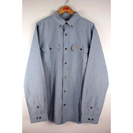 CARHARTT / RELAX FIT BUTTON DOWN CHAMBRAY SHIRTS / light blue