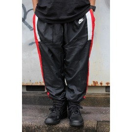 NIKE / REISSUE WOVEN TRACK PANTS / black×white×red