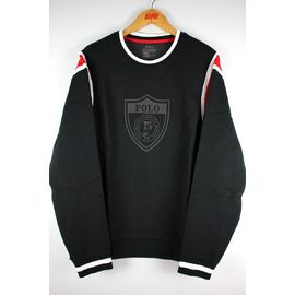 POLO RALPH LAUREN / FOOTBALL CREWNECK SWEAT / black×red×white