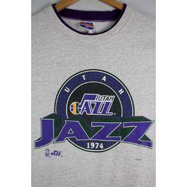 "USED!!! NBA OFFICIAL / ""UTAH JAZZ"" Tee (90'S) / light heather grey×purple"