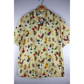 "PACIFIC LEGEND / ""HUSTLE"" ALOHA SHIRTS / cream"