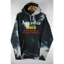 ACAPULCO GOLD / TYE DYED PULLOVER SWEAT HOODIE / dyed black