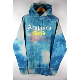 ACAPULCO GOLD / TYE DYED PULLOVER SWEAT HOODIE / dyed blue