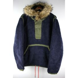 POLO RALPH LAUREN / PULLOVER HOODED BOA JACKET / navy×olive