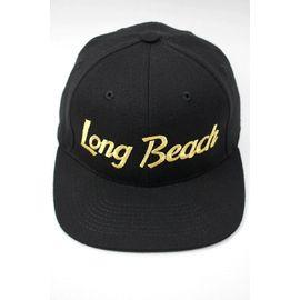 """HOOD HAT / """"LONG BEACH CA"""" SNAPBACK CAP / black"""
