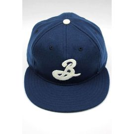 BROOKLYN BREWERY × EBBETS FIELD / WOOL STRAPBACK CAP / navy