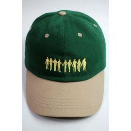 "RULER / ""ROCKERS"" LOW PROFILE BASEBALL CAP / green×tan"
