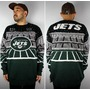 "NFL OFFICIAL / ""NEWYORK JETS"" TEAM SPEAKER KNIT SWEATER / green×black"